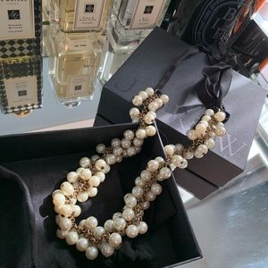 J.Crew Pearl Necklace with ribbon